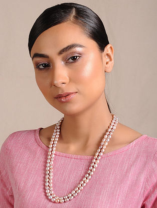 Fresh Water Pearl Beaded Silver Necklace