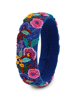 Multicolored Hand Embroidered Bangle