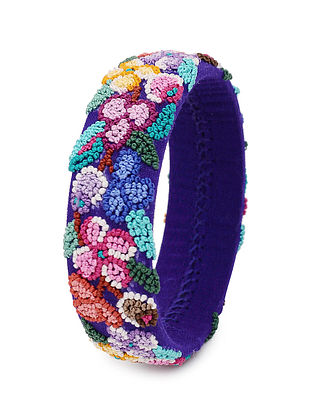Multicolored Hand Embroidered Bangle