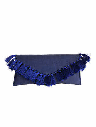 Blue Denim Clutch Bag