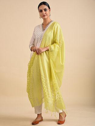 Lime Green Handwoven Kota Silk Dupatta