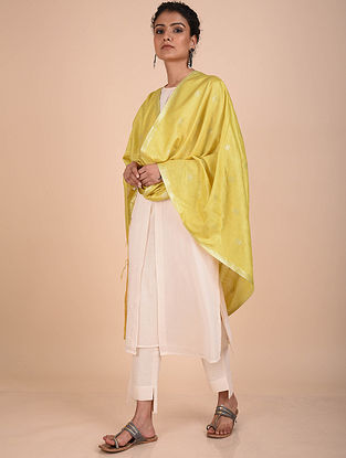 Yellow Handwoven Kota Silk Dupatta