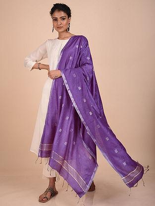 Purple Handwoven Kota Silk Dupatta