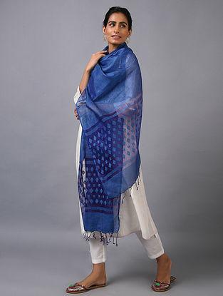 Blue Handwoven Kota Silk Dupatta