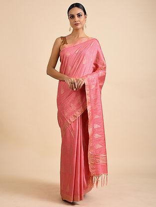 Pink Handwoven Kota Silk Saree
