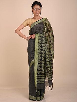 Black-Green Handwoven Kota Silk Saree