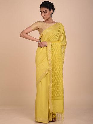 Yellow Handwoven Kota Silk Saree