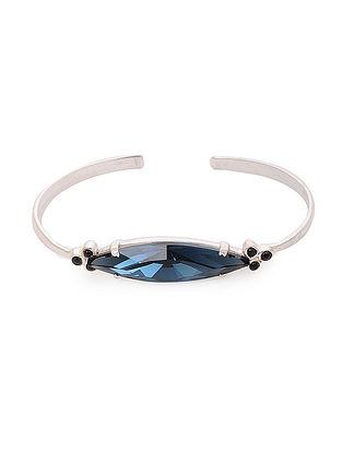 Blue Crystal Silver Cuff