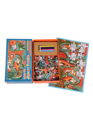Color Me Jigsaw Puzzle-Mural Painting of Kerala