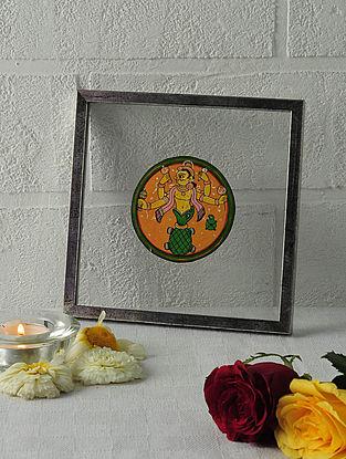 Kurma Avatar Framed Ganjifa Card 6.5in x 6.5in