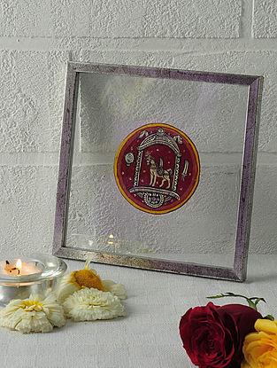 Kalki Avtar Framed Ganjifa Card 6.5in x 6.5in