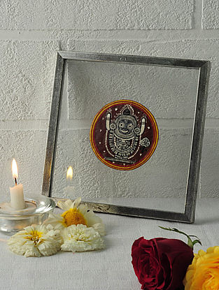 Buddha Avatar Framed Ganjifa Card 6.5in x 6.5in