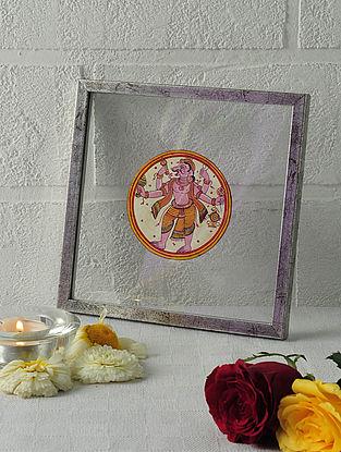 Narsimha Avatar Framed Ganjifa Card 6.5in x 6.5in