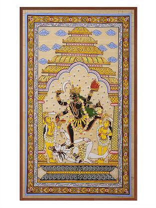 Maa Kaali Pattachitra on Silk 32.5in x 20.5in