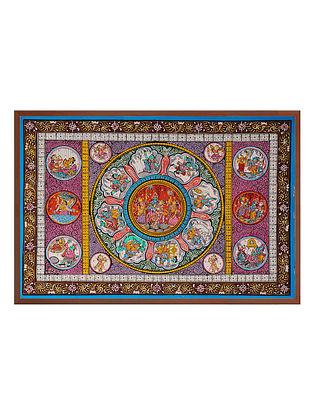 Krishna Pattachitra on Patta 15in x 21in