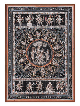 Krishna Dashavtar Pattachitra on Patta 21in x 15in