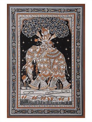 Krishna Pattachitra  on Patta 21in x 15in