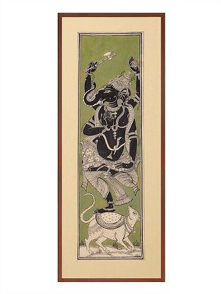 Ganesha Pattachitra on Silk 18.5in x 8.5in