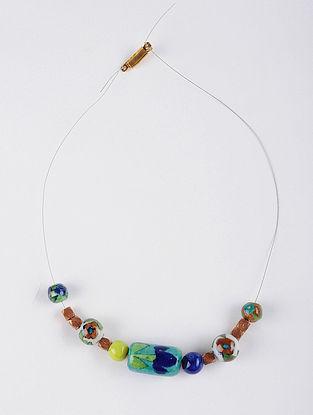 Necklace, Bracelet DIY Kit with Dokra and Blue Pottery Beads