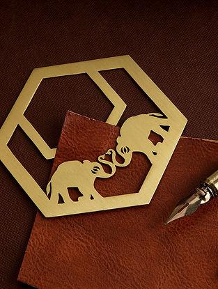 Brass Hexagonal Trumpets Metal Bookmark