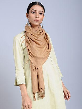 Beige Handloom Silk Scarf