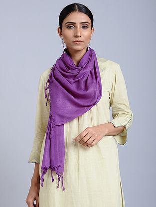 Purple Handloom Silk Scarf