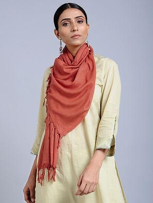 Orange Handloom Silk Scarf