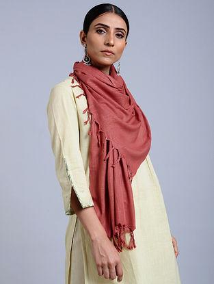 Pink Handloom Silk Scarf