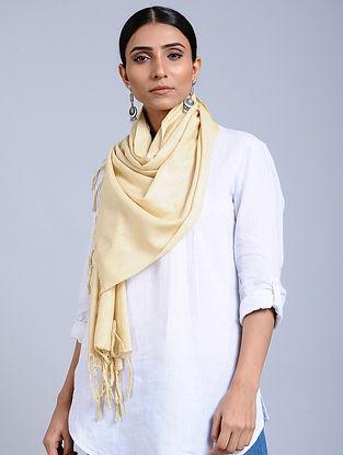 Cream Handloom Silk Scarf