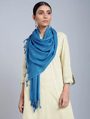 Blue Handloom Silk Scarf