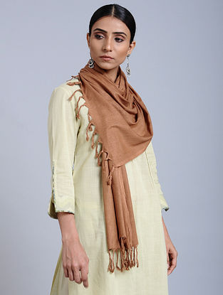 Copper Handloom Silk Scarf