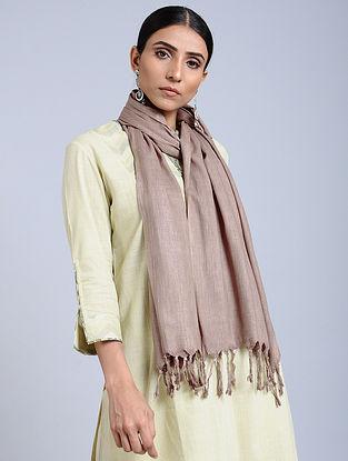 Brown Handloom Silk Scarf
