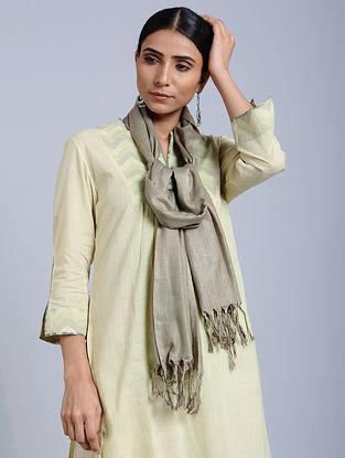 Silver Handloom Silk Scarf