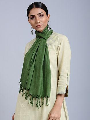 Green Handloom Silk Scarf