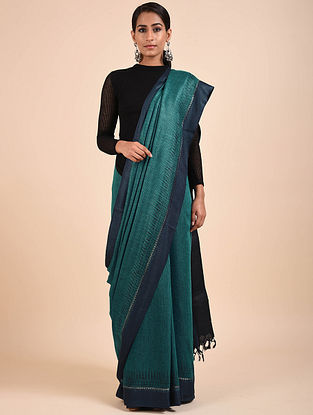 Blue Handwoven Eri Silk Saree