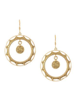 Gold Tone Silver Earrings