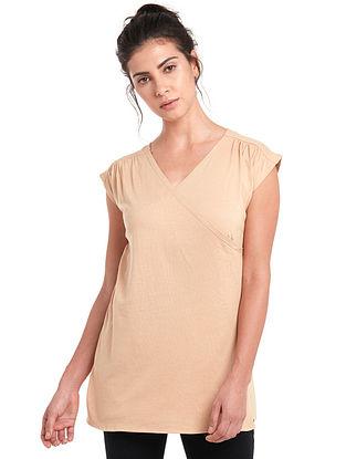 Sand Organic Cotton-Modal Top