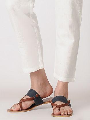 White Elasticated Waist Cotton Flax Pants