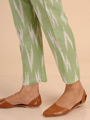 Green Ikat Cotton Pants
