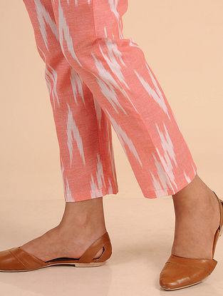 Peach Ikat Cotton Pants