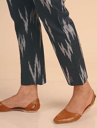 Black Ikat Cotton Pants