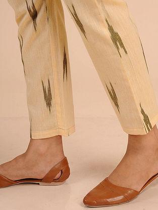 Yellow Ikat Cotton Pants