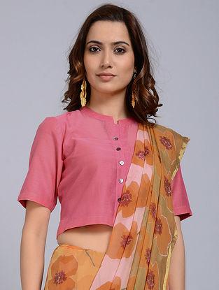 Pink Chanderi Blouse