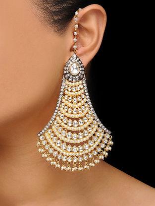 Gold Tone Polki Earrings