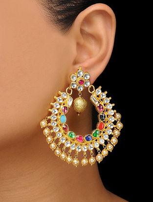 Multicolored Kundan Inspired Earrings