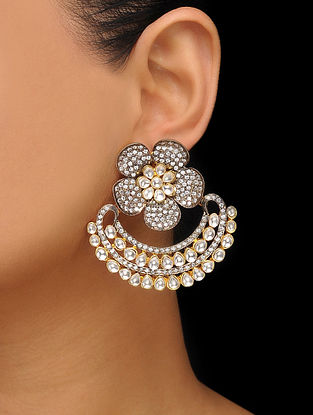Dual Tone Polki Earrings