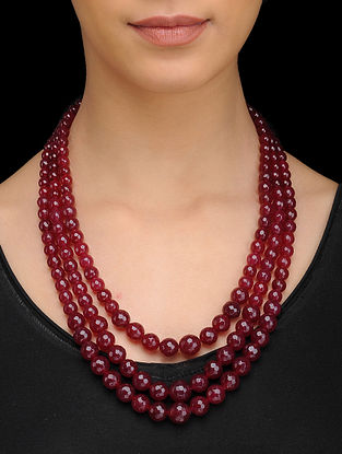 Red Quartz Layered Necklace
