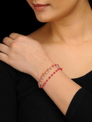 Pink Gold Tone Quartz Bracelet