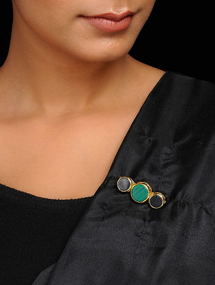 Green-Black Handcrafted Brooch