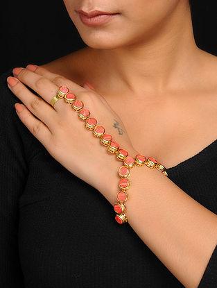 Orange Gold Tone Hand Harness
